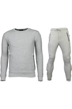 Enos Heren Trainingspakken - Trainingspakken basic buttons joggingpak