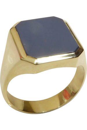 Christian Gouden blauwe lagensteen cachet ring