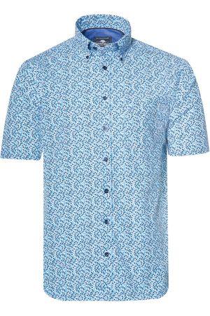 Campbell Heren Overhemden - Casual overhemd met korte mouwen aqua