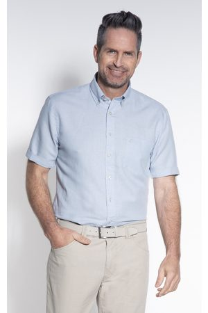 Campbell Casual overhemd met korte mouwen licht