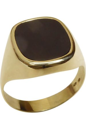 Christian Gouden zegel ring met onyx