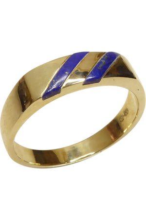 Christian Heren Ringen - Gouden cachet ring met lapis lazuli