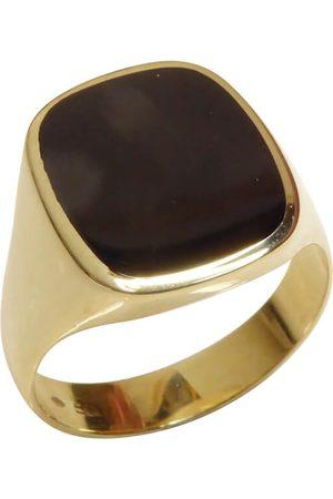 Christian Heren Ringen - Gouden zegelring met onyx