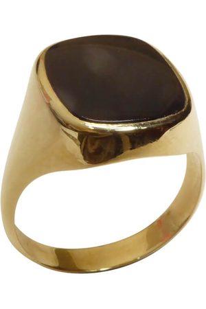 Christian Heren Ringen - Gouden zwarte lagensteen cachet ring