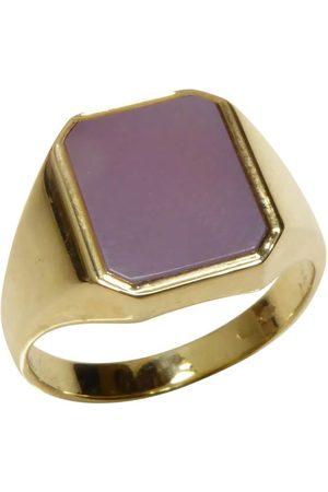 Christian Heren Ringen - Zegelring met roze lagensteen