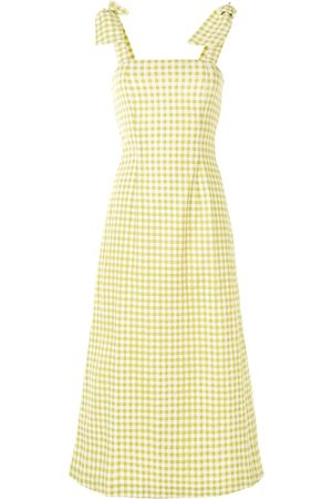 Bambah Gingham bow midi dress
