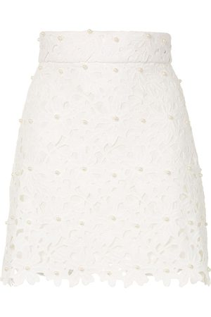 Bambah Lace crochet mini skirt