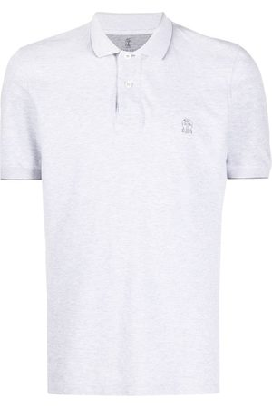 Brunello Cucinelli Embroidered logo polo shirt