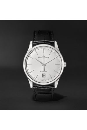 Jaeger-LeCoultre Heren Horloges - Master Ultra Thin Date Automatic 39mm Stainless Steel and Alligator Watch