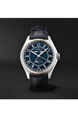 Vacheron Constantin Heren Horloges - Fiftysix Automatic Complete Calendar 40mm Stainless Steel and Alligator Watch, Ref. No. 4000E/000A-B548