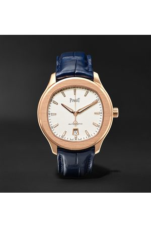 PIAGET Heren Poloshirts - Polo S Automatic 42mm 18-Karat Rose Gold and Alligator Watch, Ref. No. G0A43010