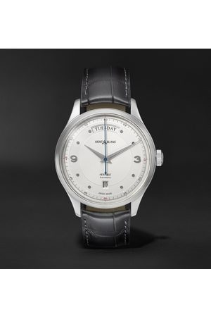 Mont Blanc Heritage Automatic Day-Date 39mm Stainless Steel and Alligator Watch, Ref. No. 119947