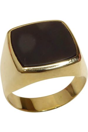 Christian Heren zegel ring met onyx