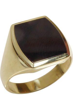Christian Heren Ringen - Gouden heren zegel ring met onyx