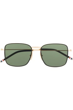 Thom Browne TBS117 oversized squared aviator sunglasses