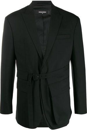 Dsquared2 Multi-pocket belted blazer