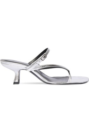 By Far 60mm Desire Metallic Leather Sandals