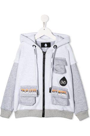 DUOltd Panelled zip hoodie