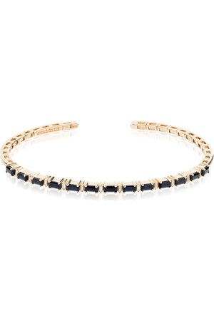 Suzanne Kalan 18kt gold Fireworks sapphire diamond bracelet