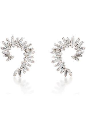 Suzanne Kalan 18kt diamond baguette spiral earrings