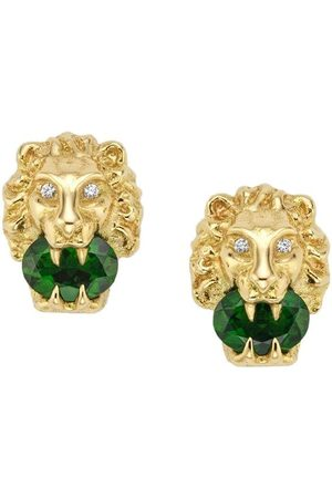 Gucci 18kt yellow gold lion head stud earrings