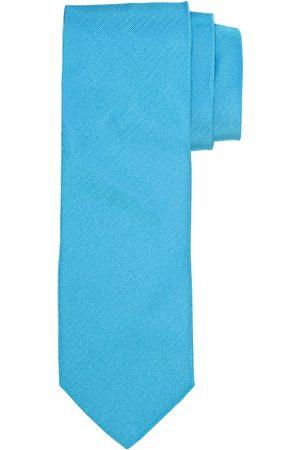 Profuomo Aqua ribs zijden stropdas heren