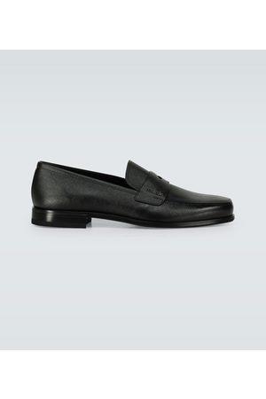 Prada Saffiano leather penny loafers