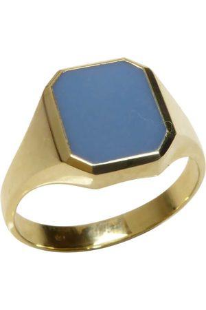 Christian Gouden lagensteen cachet ring