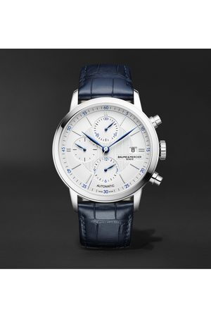 Baume & Mercier Classima Automatic Chronograph 42mm Steel and Alligator Watch, Ref. No. M0A10330