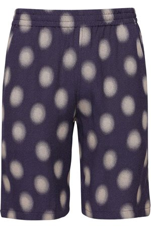 Pins & Needles Poka Dot Cupro Blend Jacquard Shorts