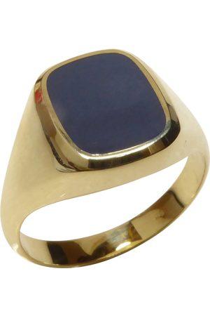 Christian Heren Ringen - 14 karaat gouden lagensteen cachet ring