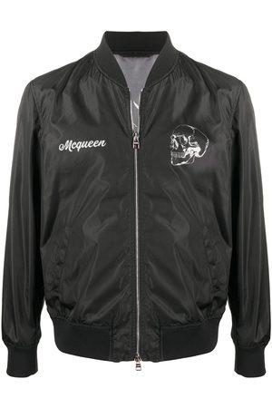 Alexander McQueen Heren Bomberjacks - Floral print bomber jacket