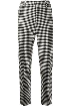 RED Valentino Vichy-pattern cropped trousers