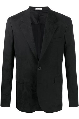 Alexander McQueen Jacquard-woven single-breasted blazer