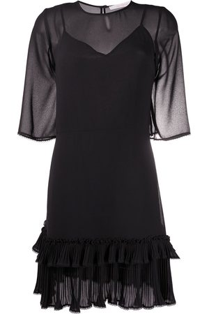 See by Chloé Sheer ruffle-trim dress