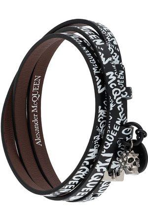 Alexander McQueen Skull graffiti print bracelet