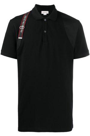 Alexander McQueen Logo harness-strap polo shirt