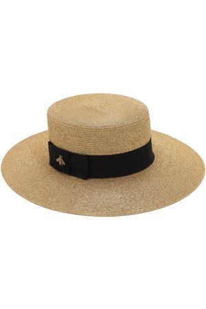 Gucci Straw Hat W/ Cotton Details