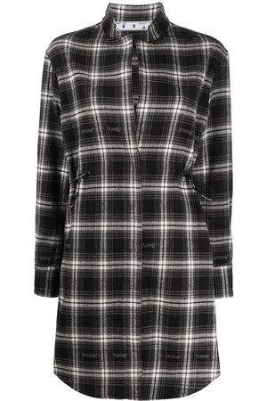 OFF-WHITE CHECK COULISSE DRESS NO COLOR