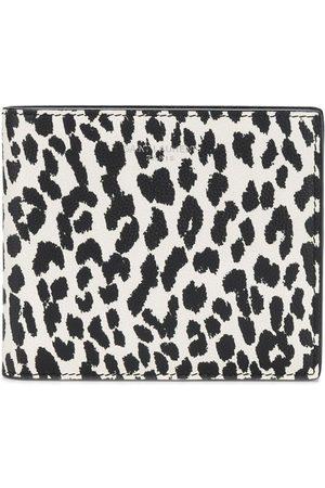 Saint Laurent Heren Portefeuilles - Leopard print leather wallet