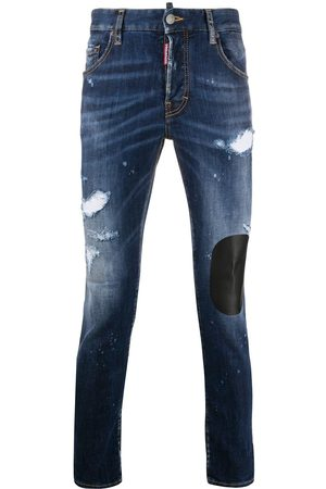 Dsquared2 Distressed skinny-fit patchwork jeans