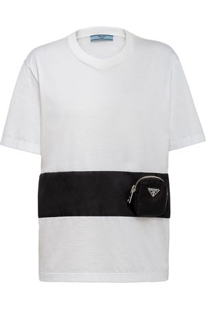Prada Zip-pocket cotton T-shirt