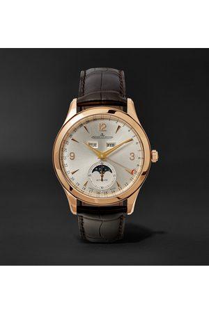 Jaeger-LeCoultre Heren Horloges - Master Calendar Automatic 39mm 18-Karat Rose Gold and Alligator Watch, Ref. No. JLQ1368420