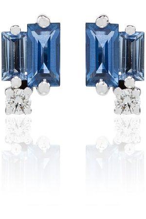 Suzanne Kalan 18kt sapphire and diamond stud earrings