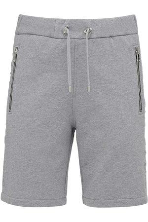 Balmain Embossed Logo Cotton Jersey Shorts