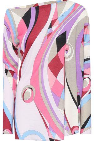 Emilio Pucci Asymmetric wool-blend top