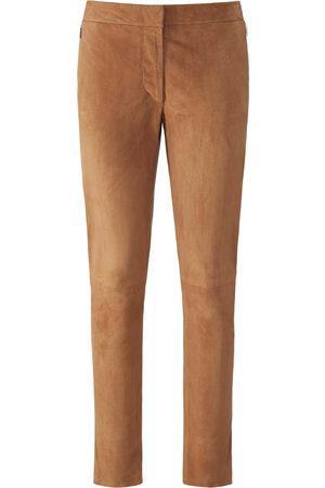 Fadenmeister Berlin Leren broek in smal model geitensuèdeleer Van