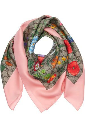 Gucci Flora Printed Silk Scarf