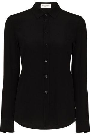 Saint Laurent Dames T-shirts - Classic collar silk shirt