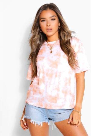 Boohoo Petite Oversized Tie Dye T-Shirt